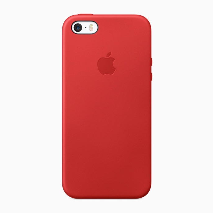 iPhone SE case rood.