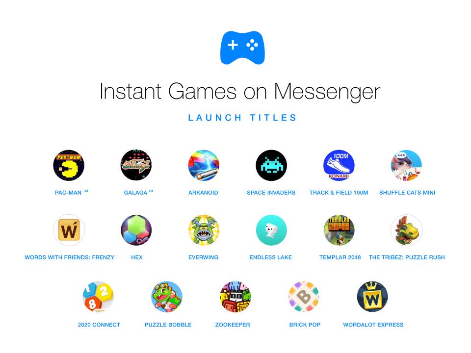 Instant Games: de eerste titels
