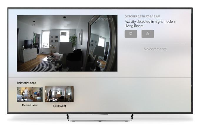 Canary voor de Apple TV.