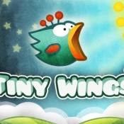 Tiny Wings titelscherm.