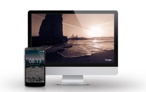Google Featured Photos op Mac.