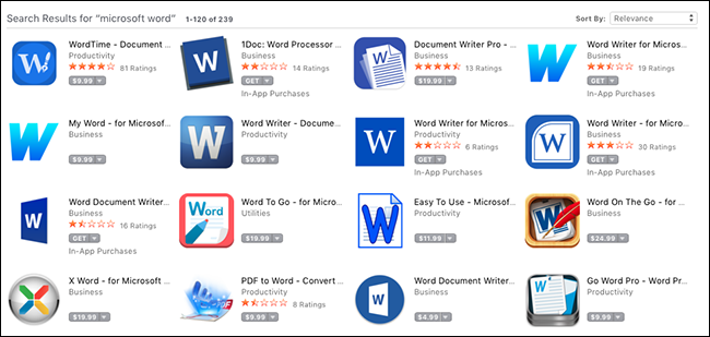 Word-apps scam