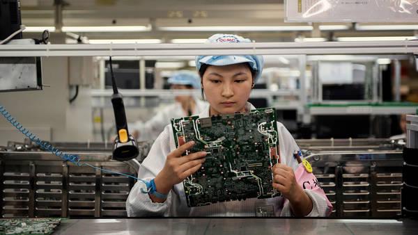 Quanta-fabriek in China