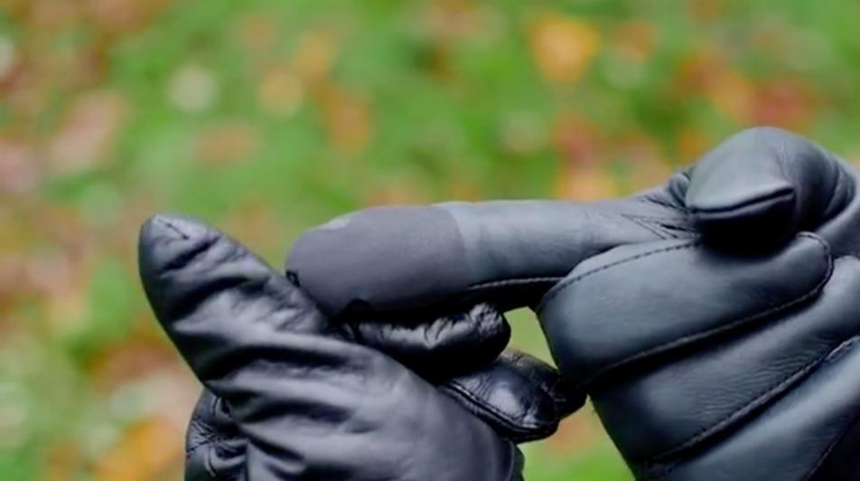 Taps plakken op je handschoen.