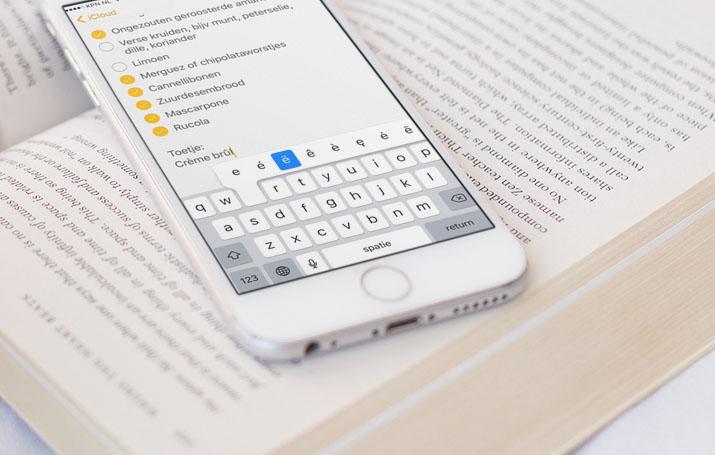 Letters met accenten typen op iPhone en iPad