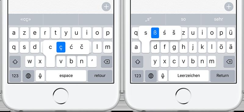 Letters met accenten typen op Frans en Duits toetsenbord