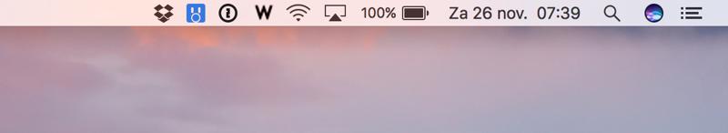 macOS menubalk