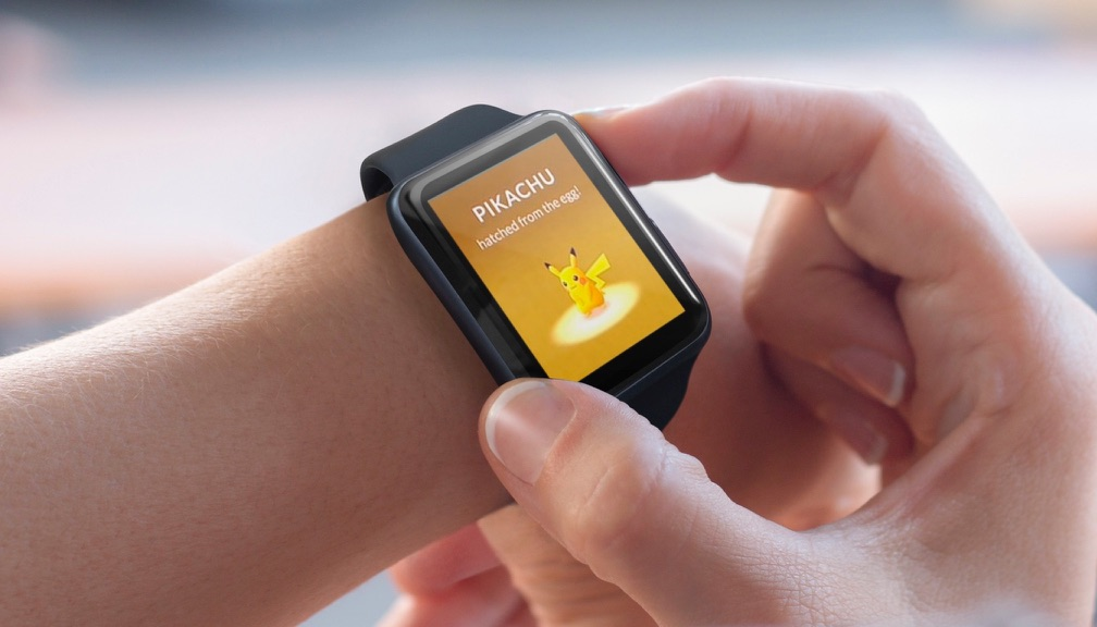 Pokémon Go op de Apple Watch met Pikachu.