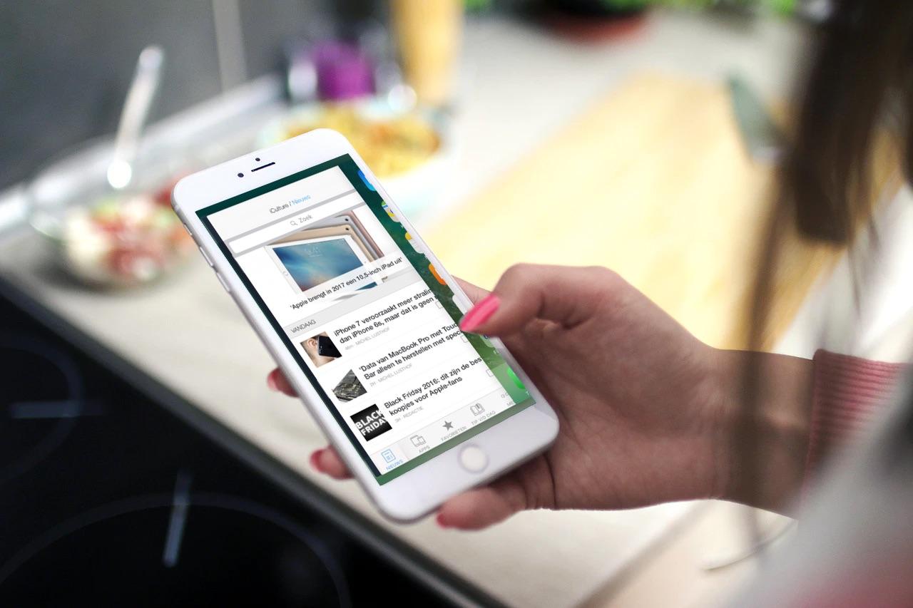 Wisselen tussen apps met 3D Touch.