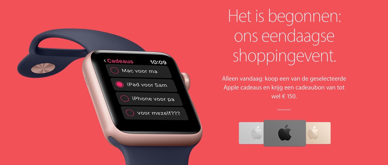 Black Friday bij Apple in Nederland in 2016.