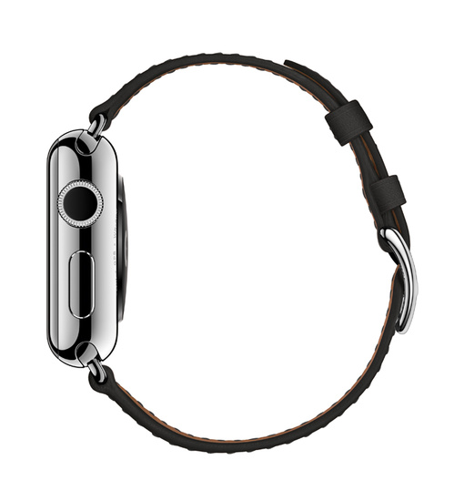 Hermes Dallet-bandje voor Apple Watch, zijkant