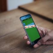 Microsoft Solitaire op de iPhone.