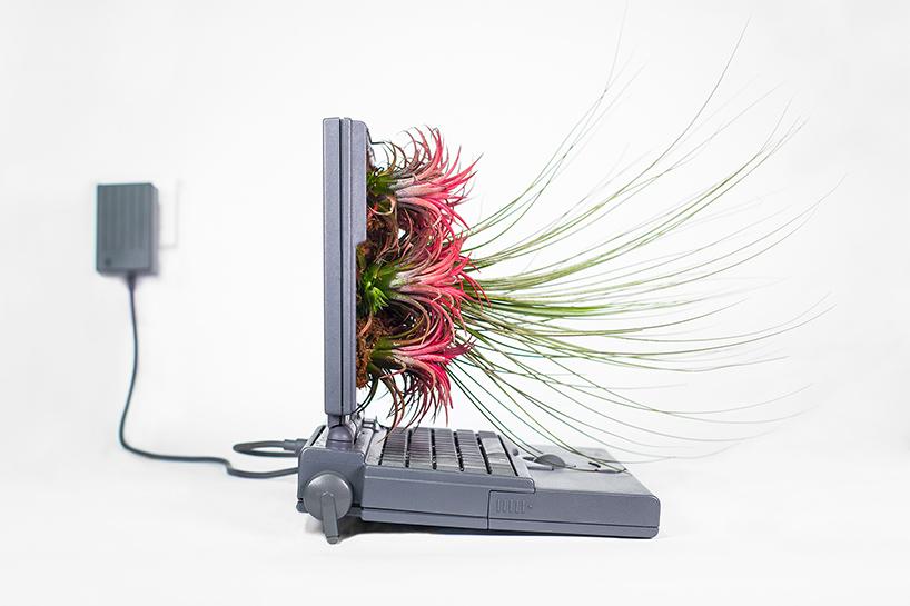 Plant Your Mac in een Powerbook, zijaanzicht