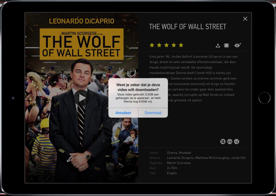 Videoland laat je films offline downloaden.