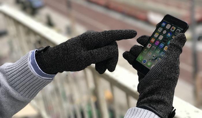 De Mujjo Double Layer Touchscreen Gloves werken ook met de nieuwe thuisknop