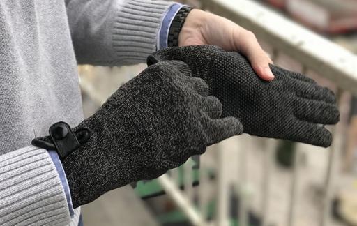 Aantrekken van de Mujjo Double Layer Touchscreen Gloves