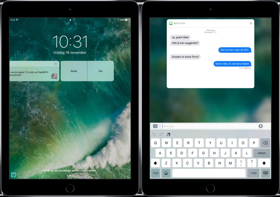 Rijke notificaties op de iPad.
