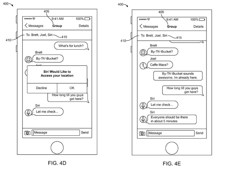 Siri in iMessage volgens een Apple-patent.