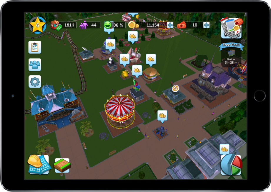 Review: RollerCoaster Tycoon Touch brengt pretparksimulator naar iOS