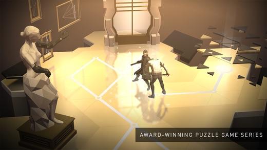 Deus Ex Go voor de iPhone.