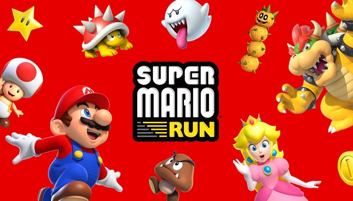 Super Mario Run met Mario, Peach, Bowser en meer.