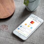 bunq-app met rekeningoverzicht.