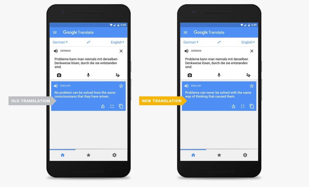 Google Translate met betere vertalingen