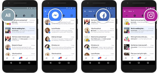 Facebook Unified Inbox op meerdere apparaten