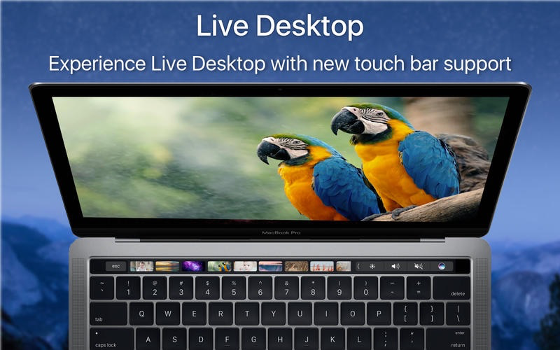 Live Desktop met Touch Bar.