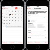 Spam in de Agenda-app via iCloud.