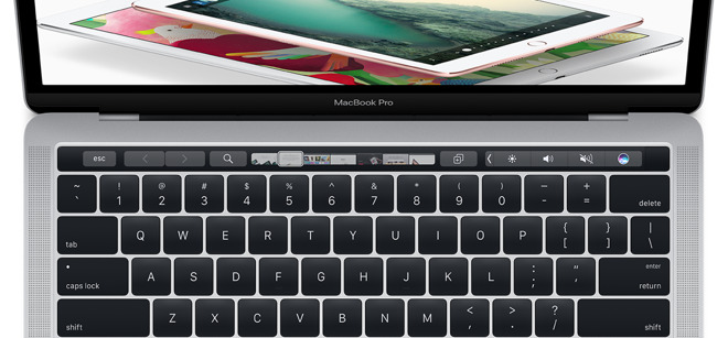 Touch Bar met Control Strip