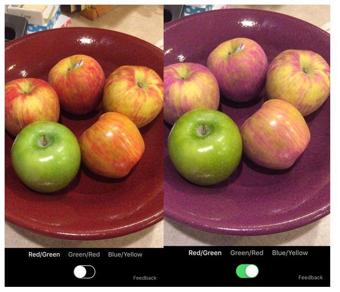 Color Binoculars met appels