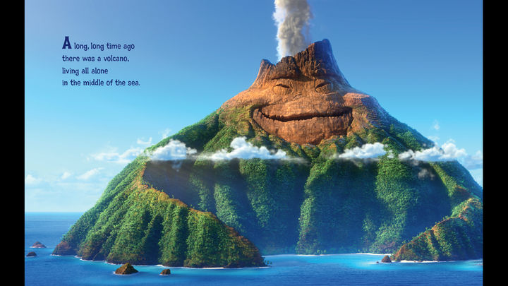 iBooks Storytime vulkaan-kinderboek