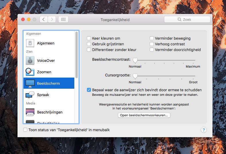 Kleurfilters Mac: niet voor kleurenblinde gebruikers