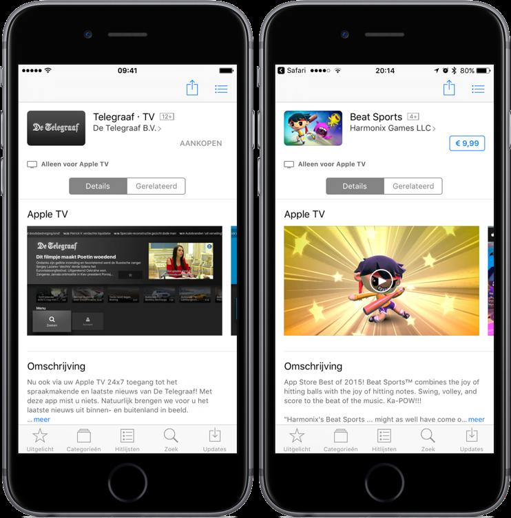 Apple TV-apps bekijken en kopen in de App Store op iOS.