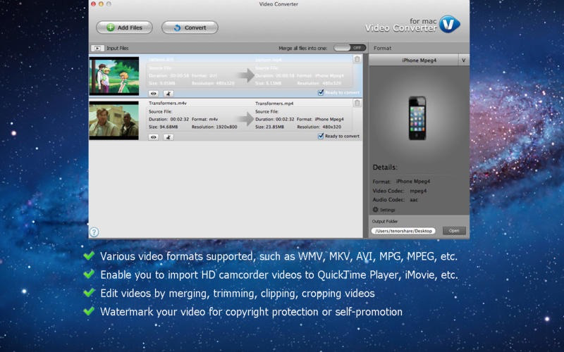 Video Converter van Tenorshare.