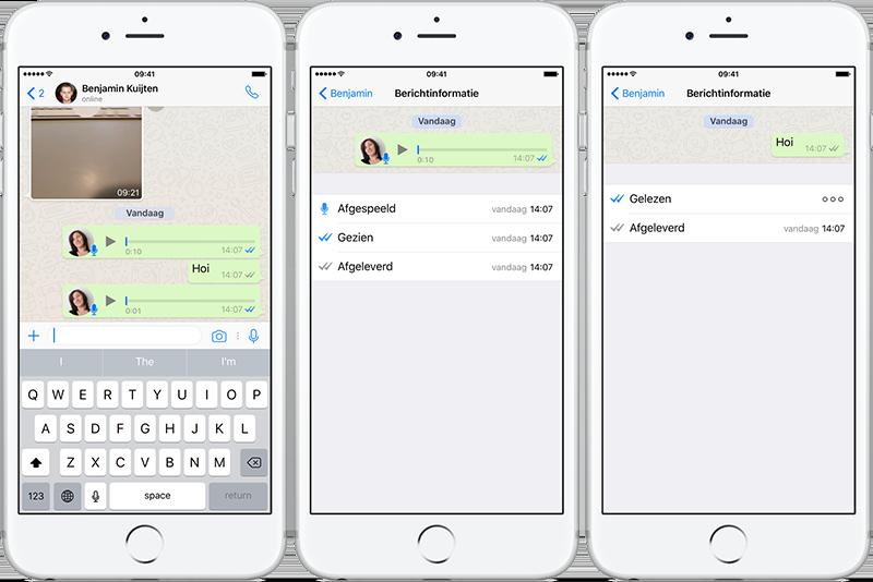 WhatsApp leesbevestiging bij gesproken berichten werkt niet goed