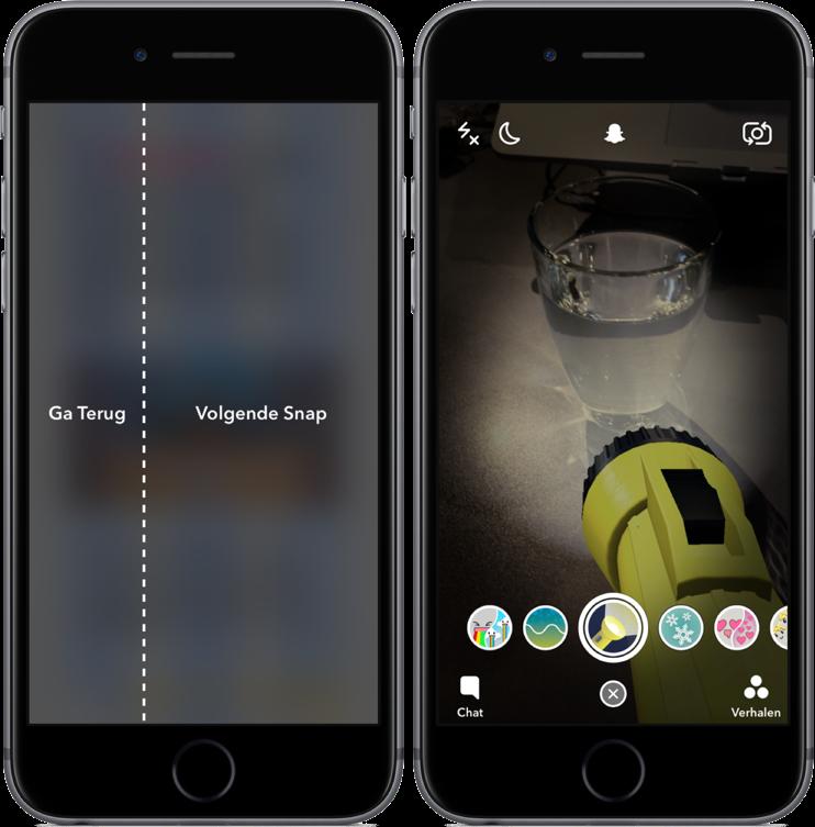Snapchat met Wereldlenzen.