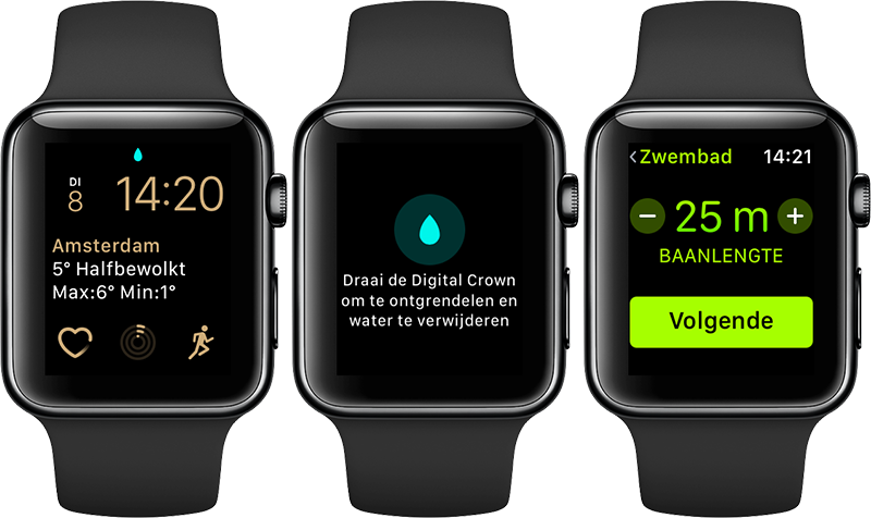 Zwemworkouts op Apple Watch