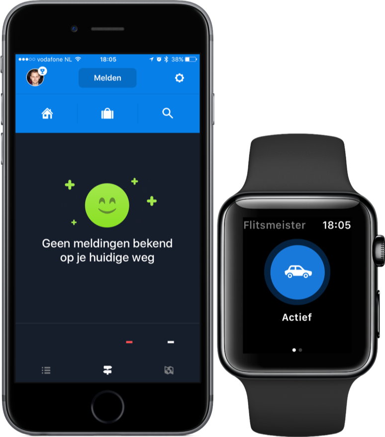 Flitsmeister voor iPhone en Apple Watch.