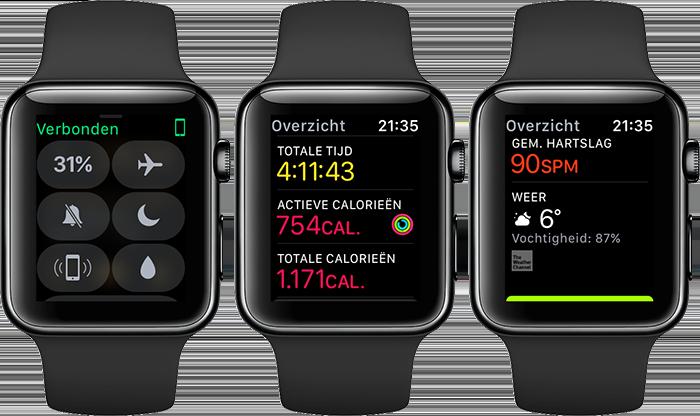 Wandelen met Apple Watch: batterijduur
