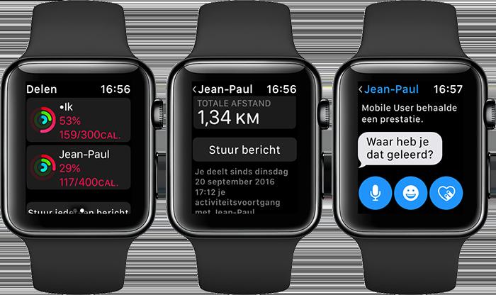 Activiteit-app: delen van data