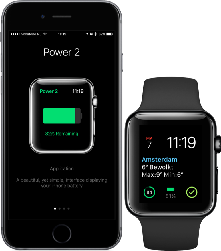 Power 2 voor de Apple Watch en iPhone.