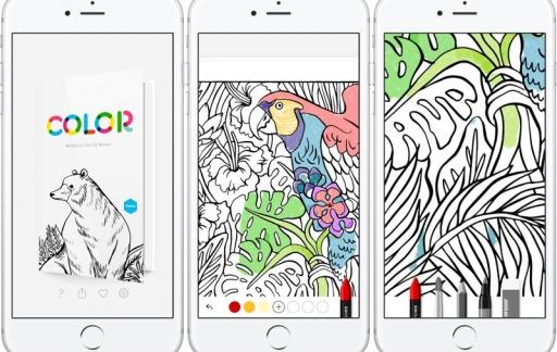 Tayasui Color kleurplaten-app