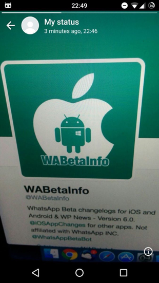 WhatsApp Status op Android.