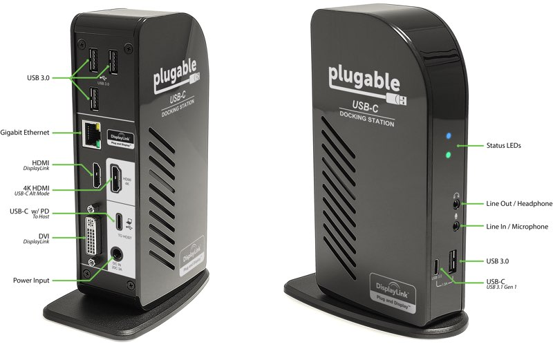 Plugable USB docking station