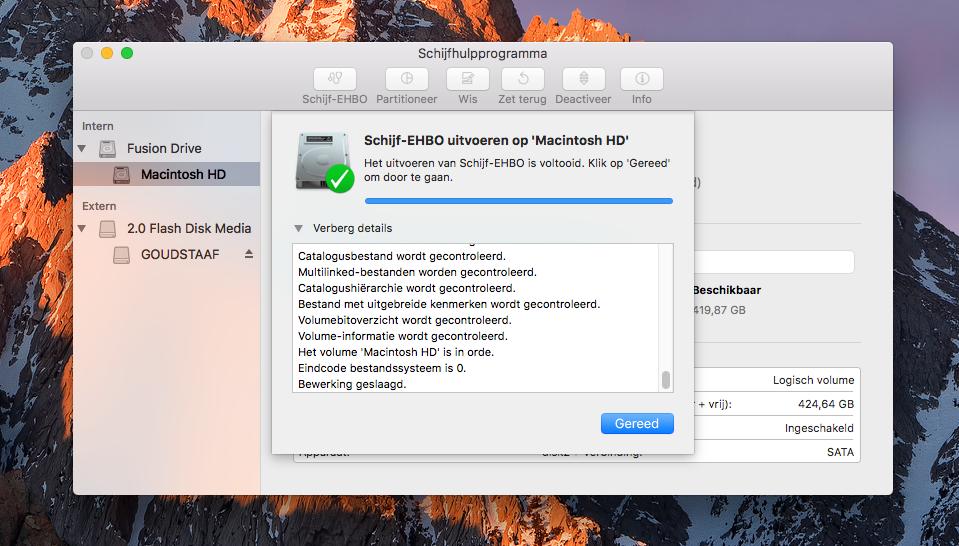 Schijf-EHBO op de Mac