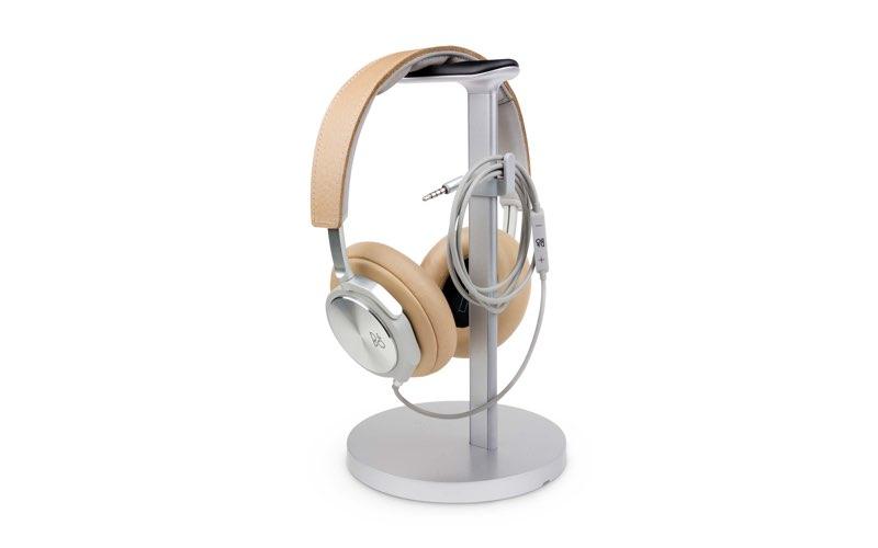 Fermata houder voor hoofdtelefoon in zilverkleur