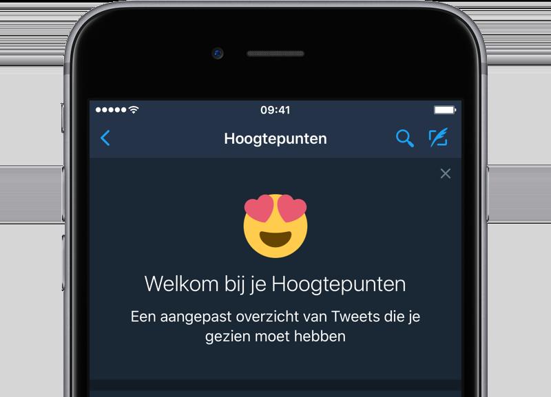 Twitter-hoogtepunten in iOS-app