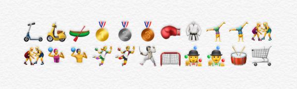 Nieuwe sport emoji's in iOS 10.2